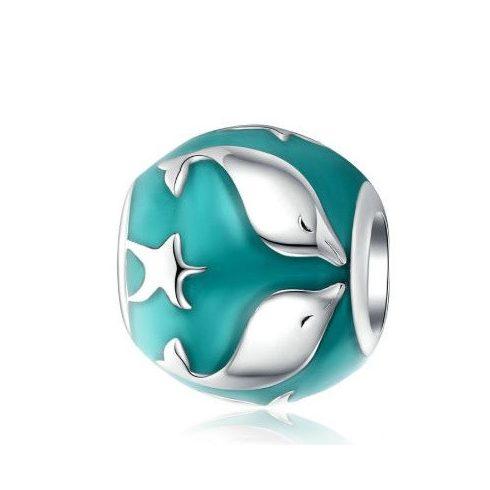 Ezüst charm delfinekkel -  Pandora stílus