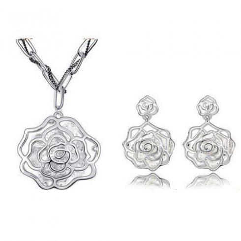 Rózsa alakú ékszer szett