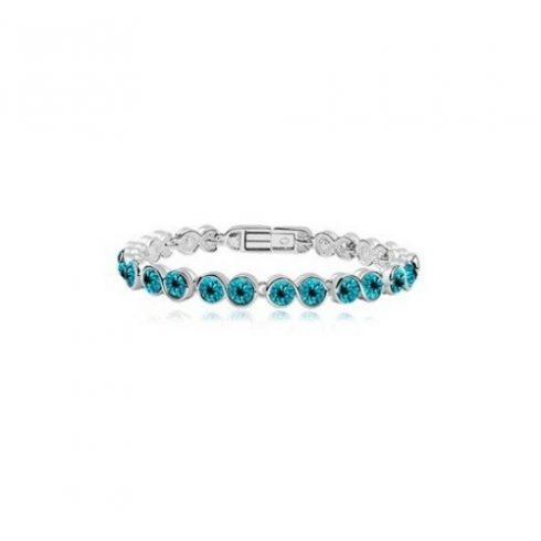 Swarovski köves karkötő Kék Diamond