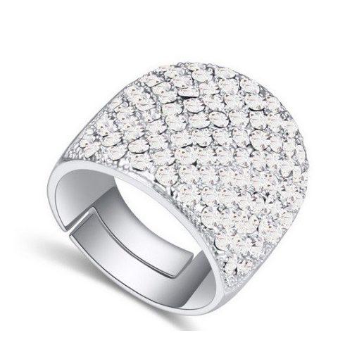 Swarovski köves ezüst színű gyűrű