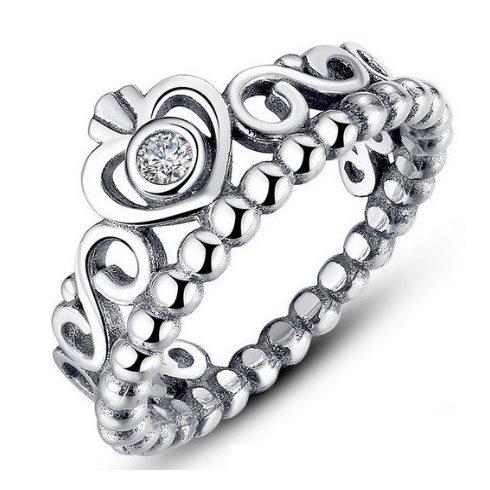 Szív mintás ezüst gyűrű, 6