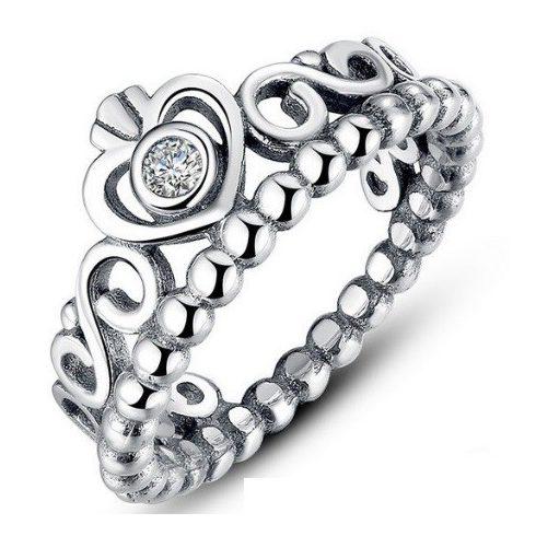 Szív mintás ezüst gyűrű, 7