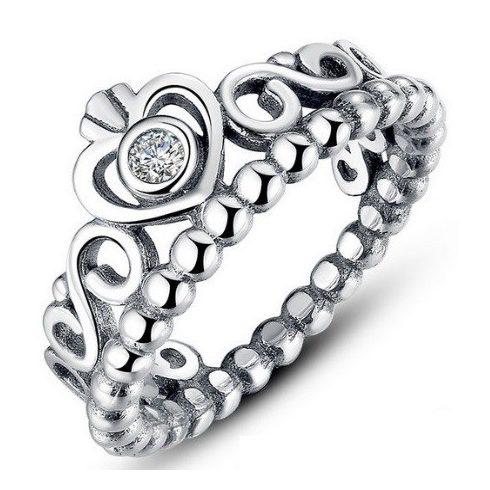 Szív mintás ezüst gyűrű, 8