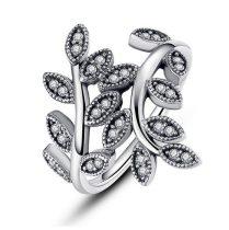 Levél mintás ezüst gyűrű, 7