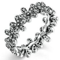 Virágos ezüst gyűrű, 6