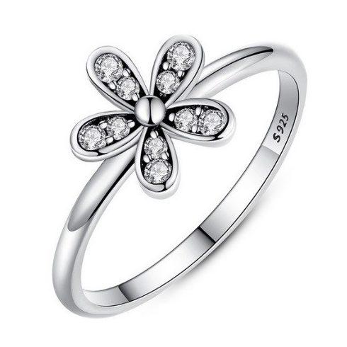 Virág mintás köves gyűrű, 8