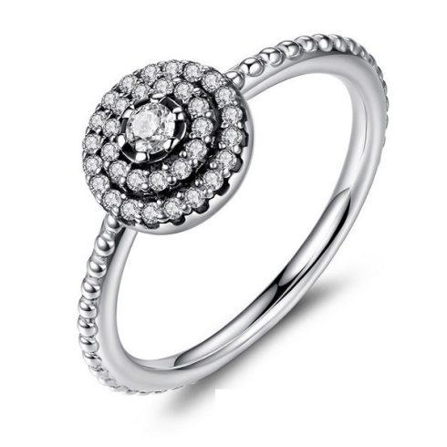 Kerek virág ezüst gyűrű, 7