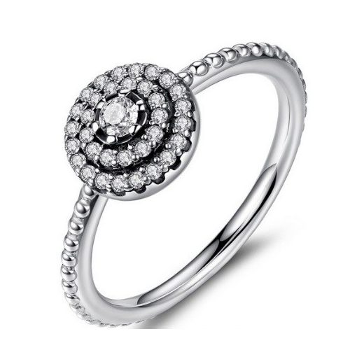Kerek virág ezüst gyűrű, 8