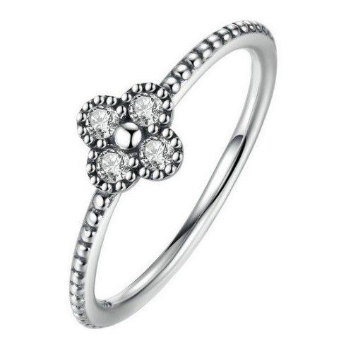 Apró virágos ezüst gyűrű, Ezüst, 6