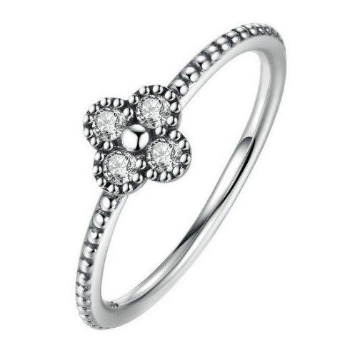 Apró virágos ezüst gyűrű, Ezüst, 7