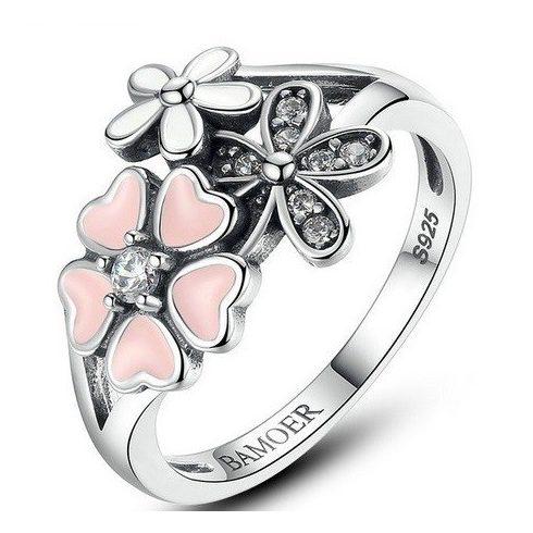 Virágos ezüst gyűrű