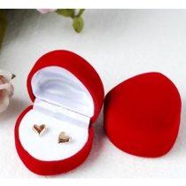 Szív alakú ékszer doboz piros
