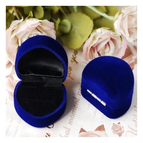 Szív alakú ékszer doboz kék